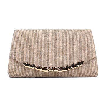 Женская сумочка клатч, золотистая П2781