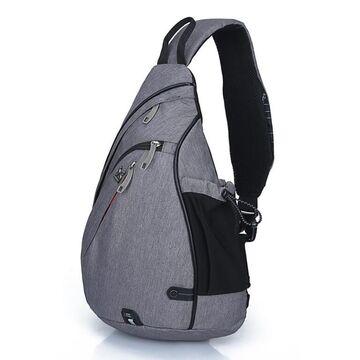 Мужская сумка слинг, серая П2782