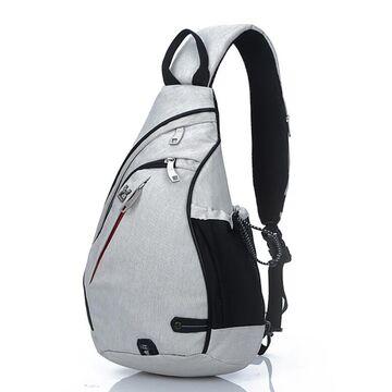 Мужская сумка слинг, серая П2783