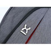 Мужские сумки - Мужская сумка слинг, серая П2783