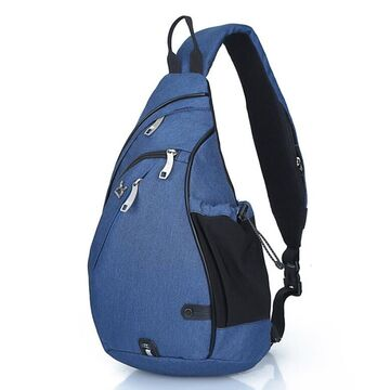 Мужская сумка слинг, синяя П2784