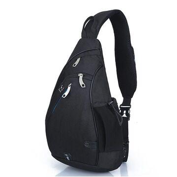 Мужская сумка слинг, черная П2785