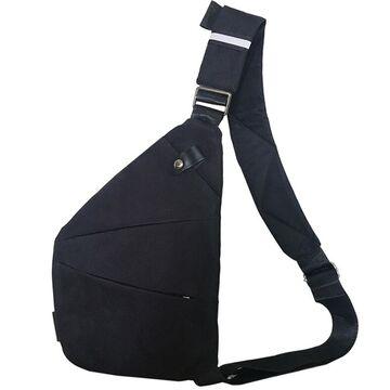 Мужская сумка слинг на плечо, черная П2786
