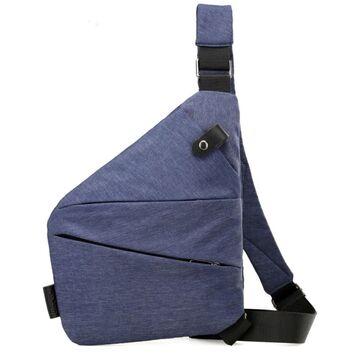 Мужская сумка слинг на плечо, синяя П2787