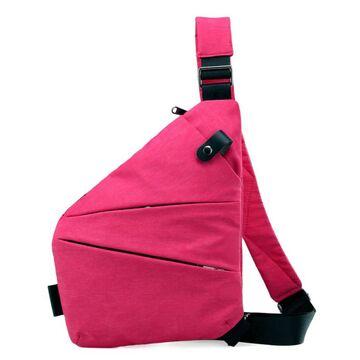 Мужская сумка слинг на плечо, розовая П2788