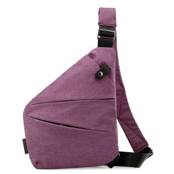 Мужская сумка слинг на плечо, фиолетовая П2789