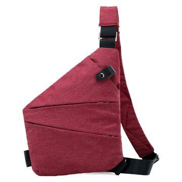 Мужская сумка слинг на плечо, красная П2790