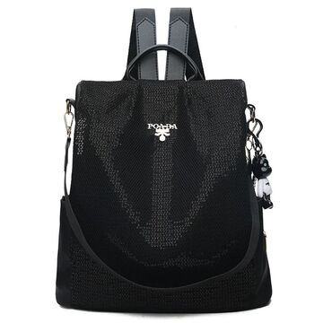 Женский рюкзак TuLaduo, черный П2820