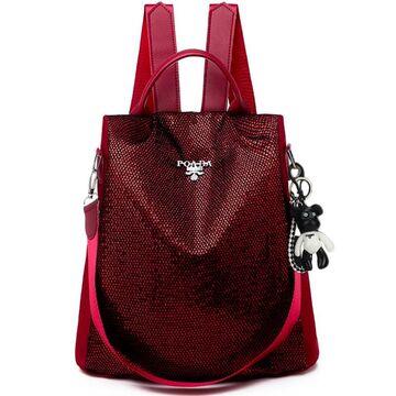 Женский рюкзак TuLaduo, красный П2821