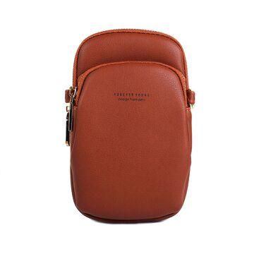 """Женская сумочка, клатч """"WEICHEN"""", коричневая П2842"""