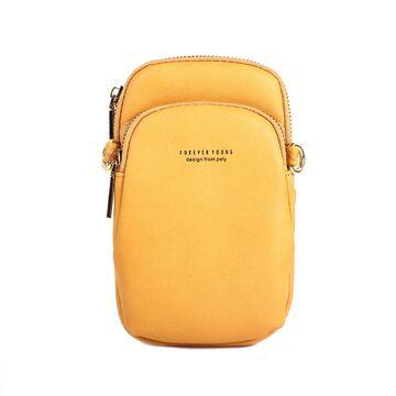 """Женская сумочка, клатч """"WEICHEN"""", желтая П2843"""