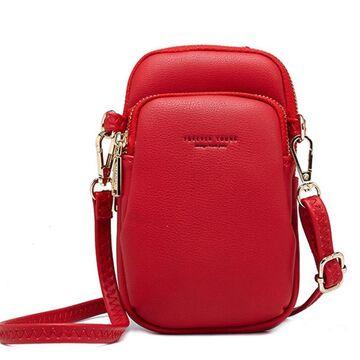 """Женская сумочка, клатч """"WEICHEN"""", красная П2844"""