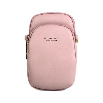 """Женская сумочка, клатч """"WEICHEN"""", розовая П2845"""