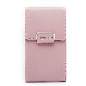 """Женская сумочка, клатч """"WEICHEN"""", розовая П2849"""