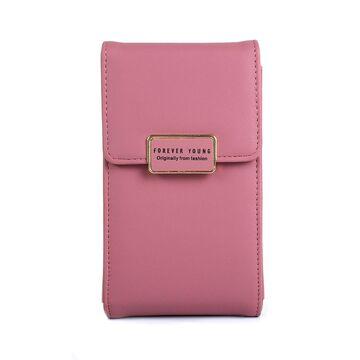 """Женская сумочка, клатч """"WEICHEN"""", розовая П2850"""