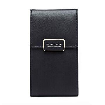 """Женская сумочка, клатч """"WEICHEN"""", черная П2852"""