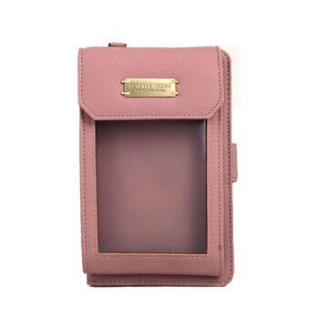 """Женская сумочка, клатч """"WEICHEN"""", розовая П2861"""