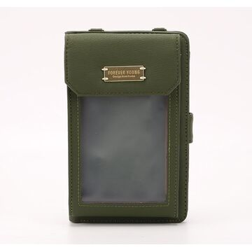 """Женская сумочка, клатч """"WEICHEN"""", зеленая П2862"""