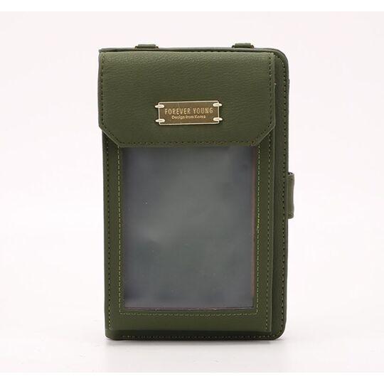 "Женские сумки - Женская сумочка, клатч ""WEICHEN"", зеленая П2862"