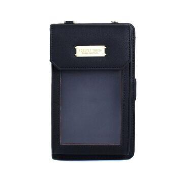 """Женская сумочка, клатч """"WEICHEN"""", черная П2864"""
