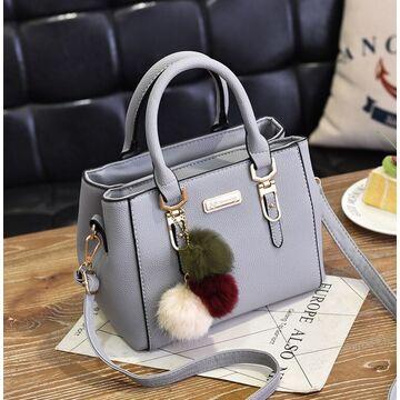 Женская сумка, серая П2866