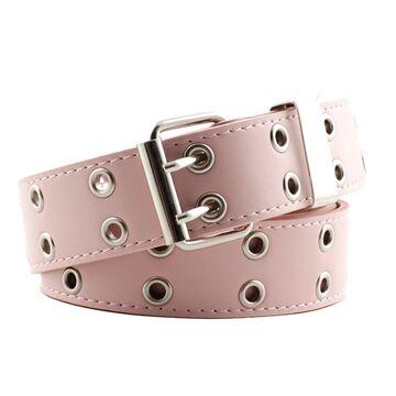 Ремень женский, розовый П2878 без цепочки