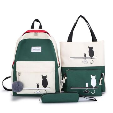 Комплект (Рюкзак,сумка,клатч, пенал) П2890