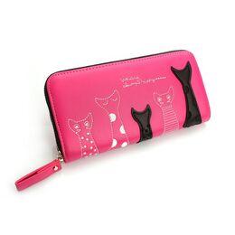 Женский кошелек, розовый 0191