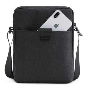 """Мужская сумка на плечо """"TINYAT"""", черная П2933"""