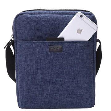 """Мужская сумка на плечо """"TINYAT"""", синяя П2934"""