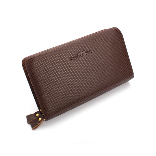 Мужские барсетки - Мужской кошелек барсетка, коричневый П0194