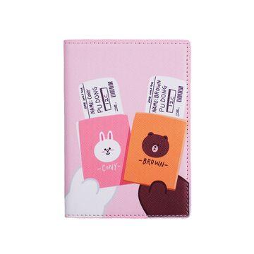 Обложка для паспорта, розовая, П2975