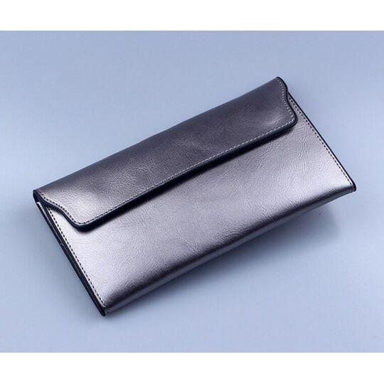 Женский кошелек, серебристый П3012