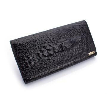 Женский кошелек, черный П0202