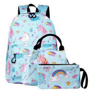 "Детский комплект (рюкзак, сумка, косметичка) ""Единорог"" П3032"