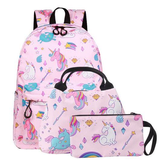 """Детские рюкзаки - Детский комплект (рюкзак, сумка, косметичка) """"Единорог"""" П3033"""