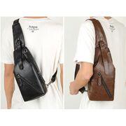 Мужская сумка+кошелек+ремень, коричневая П3037