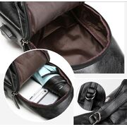 Мужская сумка+кошелек+ремень USB, коричневая П3039