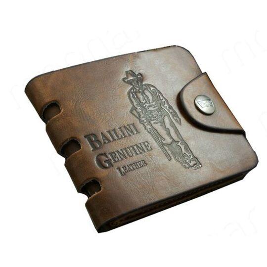 Мужской кошелек, коричневый П3041