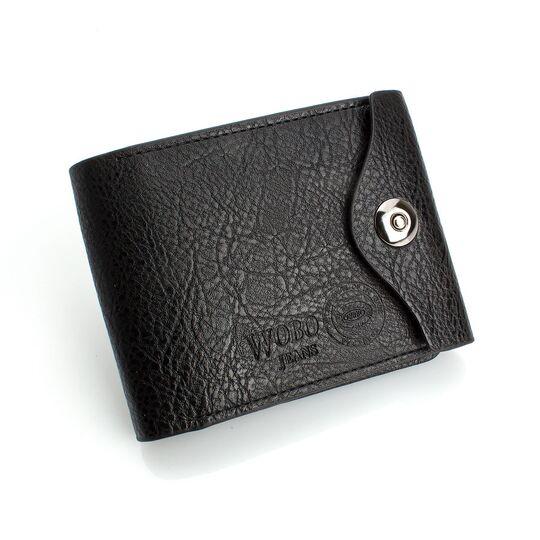 Мужские кошельки - Мужской кошелек, черный П0205