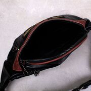 Мужская сумка на пояс, черная П3045