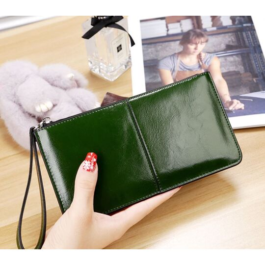 Женский кошелек, зеленый П3049