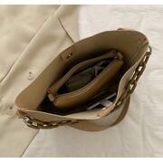 Женская сумка+косметичка, красная П3056