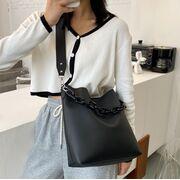 Женская сумка+косметичка, черная П3059