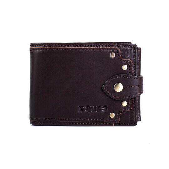 Мужской кошелек KAVIS, коричневый П3066