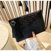 Женская сумка-клатч, коричневая П3078