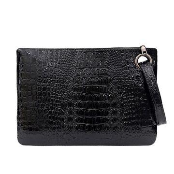 Женская сумка-клатч, черная П3079