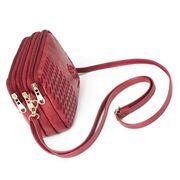 Женская сумка-клатч, красная П3081