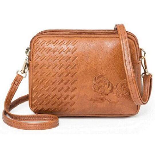 Женская сумка-клатч, коричневая П3083
