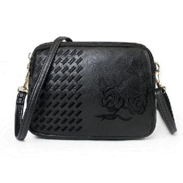 Женская сумка-клатч, черная П3084